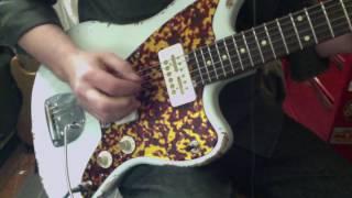 Waterslide J-Style Offset Guitar w/Mojo Teisco Gold Foil Pickups
