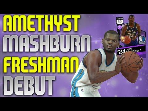 NBA 2K17 MyTeam - Amethyst Jamal Mashburn Debut - Freshman Squad Action