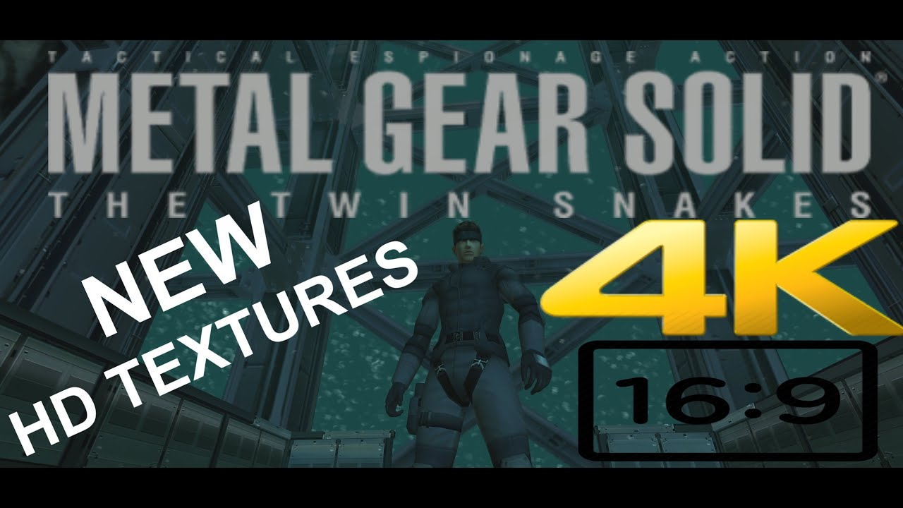 Download MGS: Twin Snakes (full game) NEW upscaled HD textures 4K60fps + 16:9 (Part 1 of 2) [no commentary]