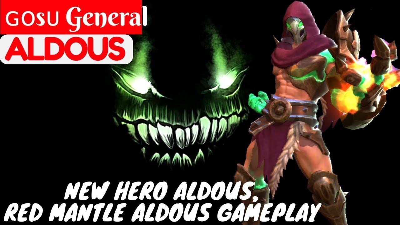 New Hero Aldous, Red Mantle Aldous Gameplay [ Gosu General Aldous