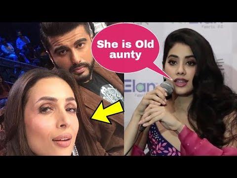 OMG ! Janhvi Kapoor angry reaction on Malaika Arora for dating brother Arjun Kapoor