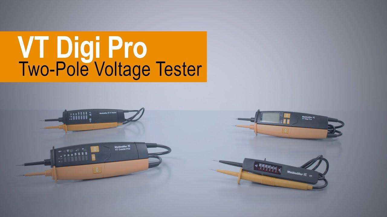 Handling Two Pole Voltage Tester Vt Digi Pro