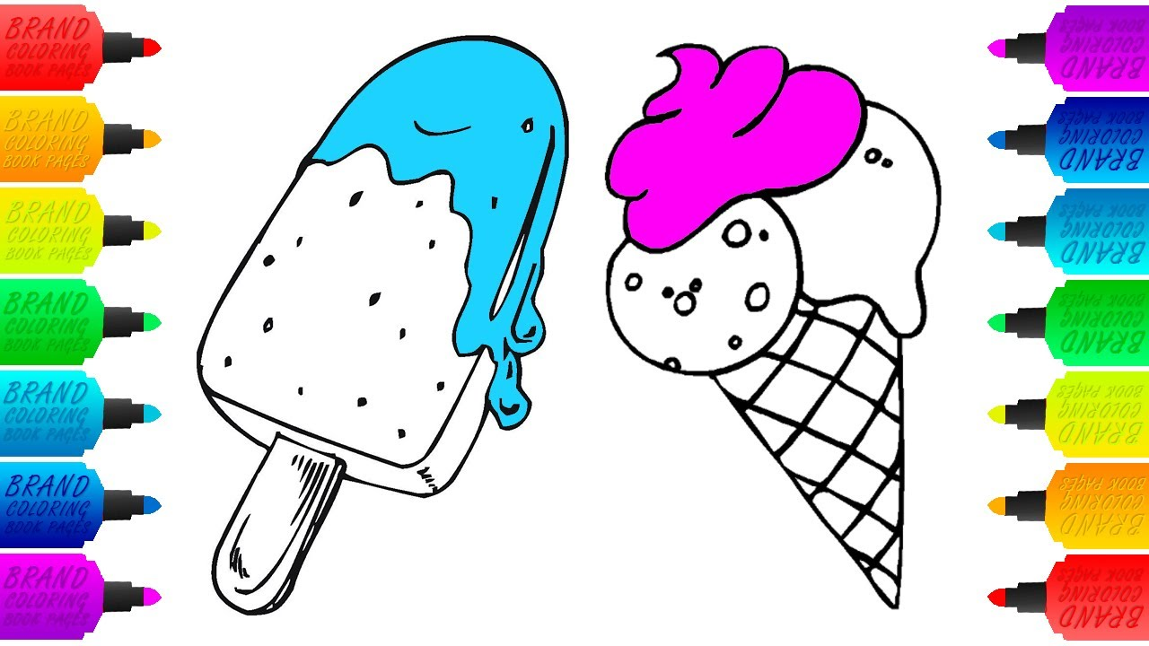 how to draw ice cream coloring pages animation drawing for