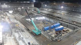 "(Tokyo 2020 Games)""Tokyo Aquatics Centre"" Time-Lapse footage"