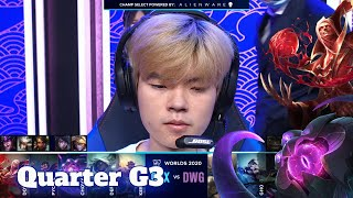 DWG vs DRX - Game 3 | Quarter Finals S10 LoL Worlds 2020 PlayOffs | DRX vs DAMWON Gaming G3 full
