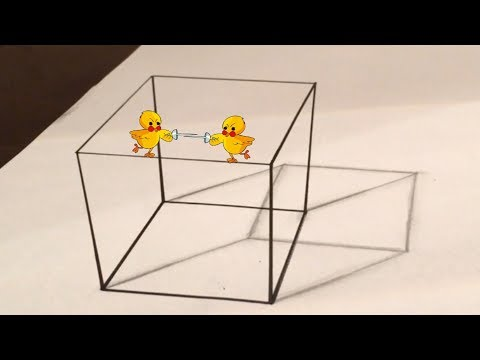 how to draw a 3d cube on paper