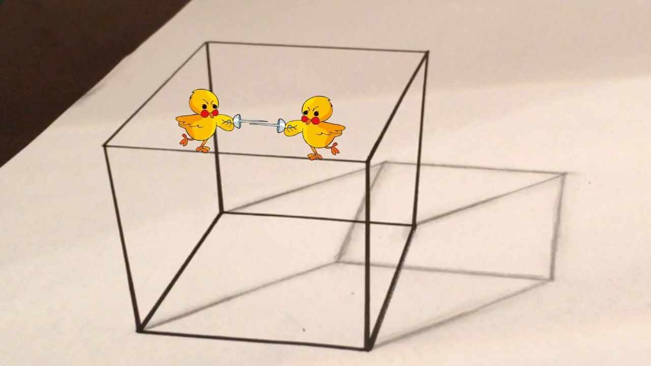 Einen 3d Würfel Zeichnen Illusion Youtube