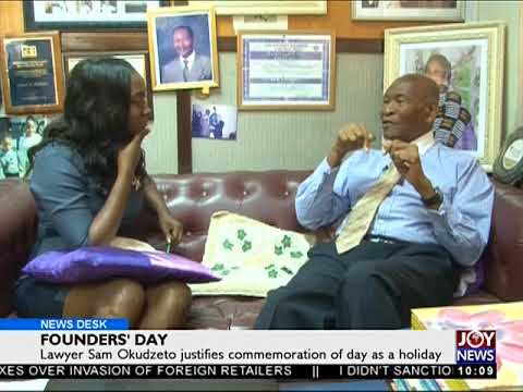 Lawyer Sam Okudzeto justifies Founder's Day as a holiday - News Desk on Joy News (21-9-17)