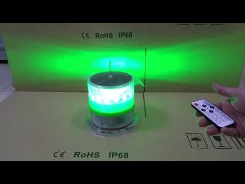 #256FlashCode Solar Marine Light--#Green Color