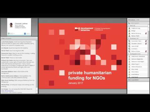 Humanitarian Financing: Private Funding – a growing source for NGOs?