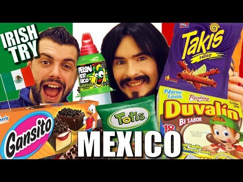 Irish People Taste Test 'MEXICAN SNACKS' - UnBoxing!!