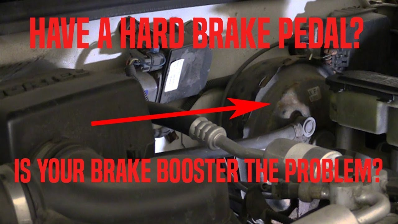 Hard Brake Pedal Is Your Brake Booster The Problem Youtube