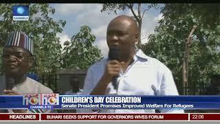 Bukola Saraki Celebrates Children's Day With Displaced Children In Benue State