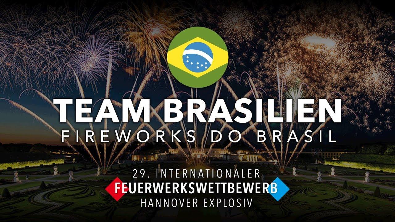 29 Internationaler Feuerwerkswettbewerb 2019 Team Brasilien Fireworks Do Brasil