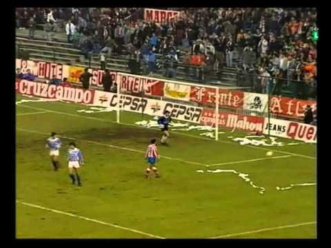 1990/91.- Atlético Madrid 4 vs. Real Sociedad 0 (Liga - Jornada 15)