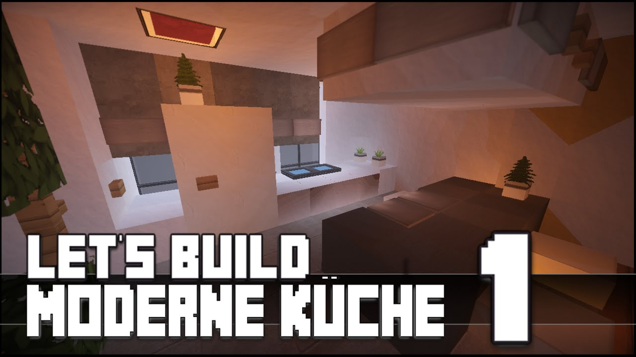 minecraft m bel tutorial moderne k che bauen 1 youtube. Black Bedroom Furniture Sets. Home Design Ideas