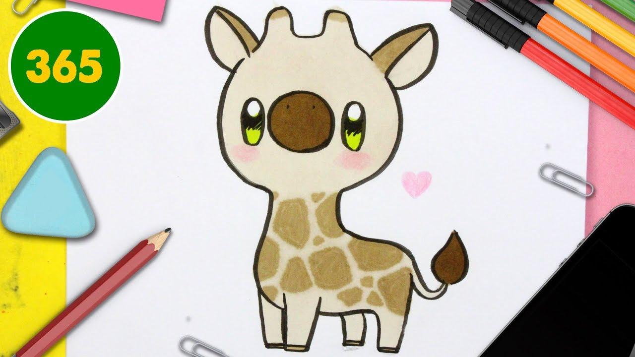 Comment Desinner Une Girafe Kawaii Dessins Kawaii Faciles