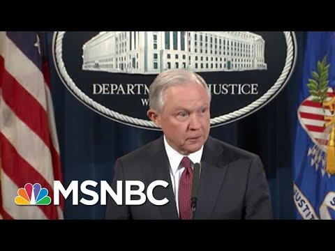 Justice Dept. Focused On President Donald Trump Agenda One Year Since Election | MSNBC