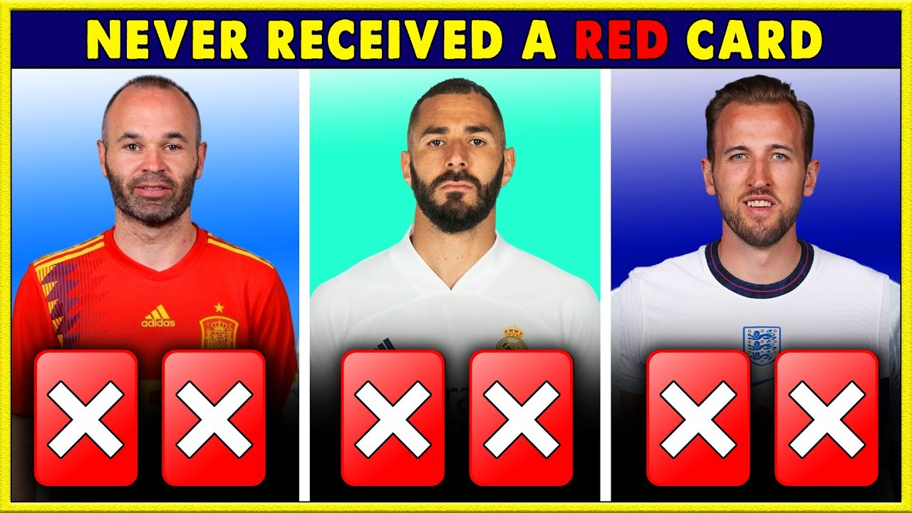 Top 20 Player Who Have Never Received A Red Card During Their Career.