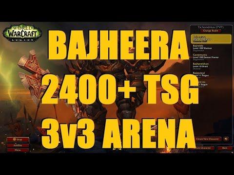 Bajheera - 2400+ Arms Warrior 3v3 as TSG ft. Envious & Losiro - WoW Legion 7.2 PvP
