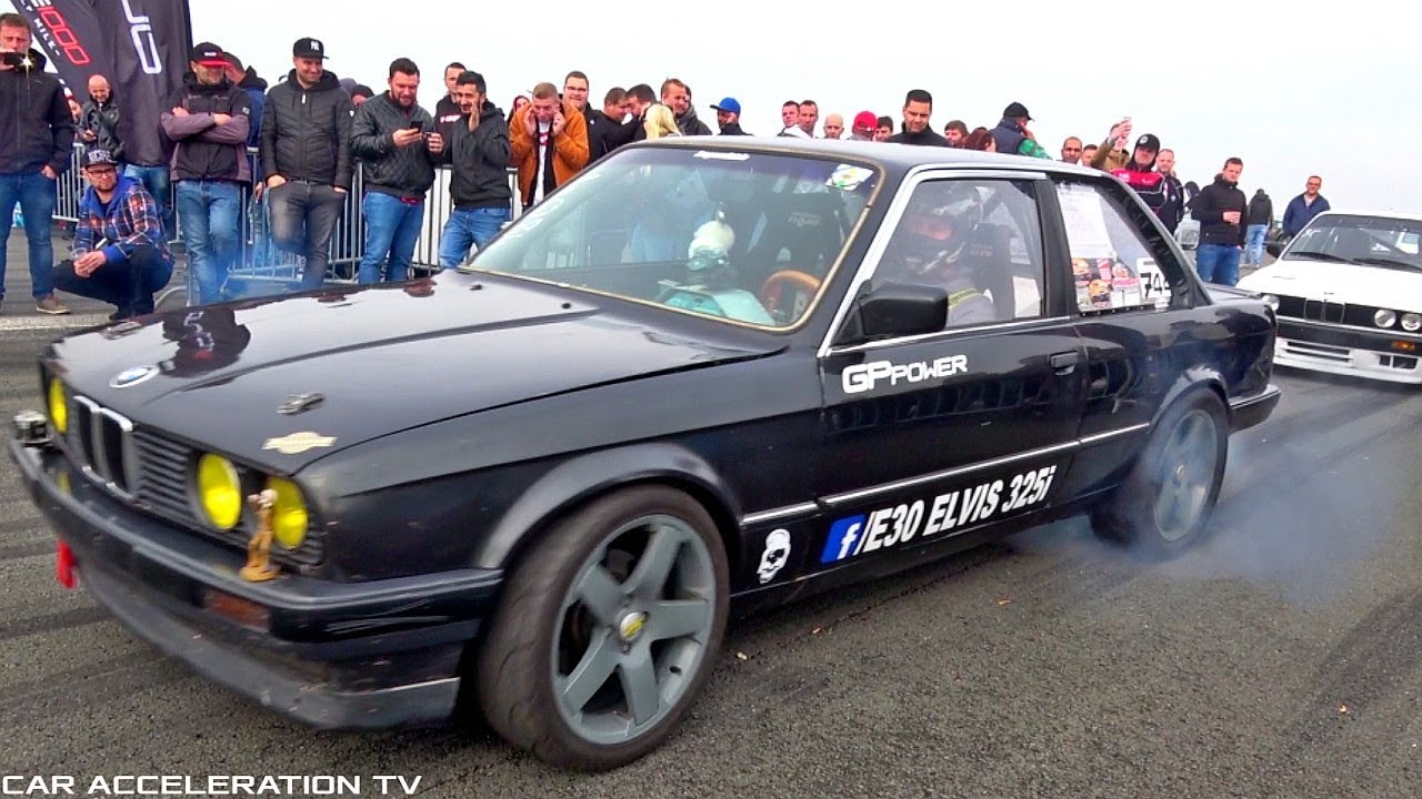 Bmw 325i E30 Turbo Acceleration Anti Lag Sound Youtube