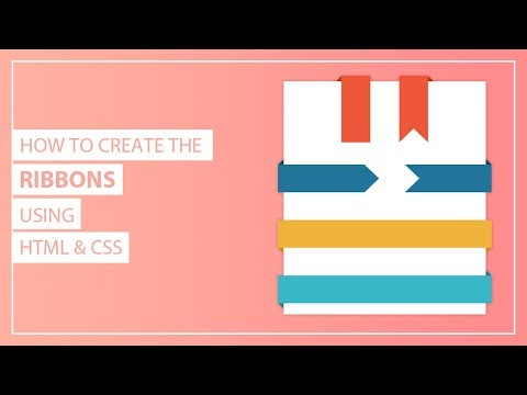 How To Create The CSS Ribbons - Creating Ribbon Shapes In CSS - Pure  CSS Ribbons