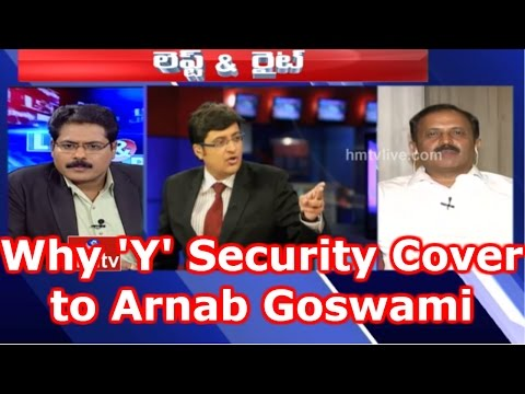 Hot Debate on Arnab Goswami to Get Y Category Security Over Threat From Pak   Left & Right   HMTV