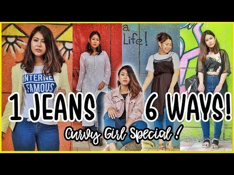 How To Look Stylish In JEANS: 6 Ways | Curvy Girl Outfit Ideas |. http://bit.ly/2zwnQ1x