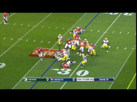 Jamaal Charles jukes defender on his first run as a Bronco!