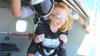 I try SKYDIVING at 15...