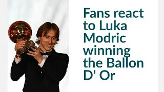 Fans react to Luka Modric winning the Ballon D Or