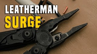 Multitool Leatherman SURGE Gear Review GERMAN + (ENGLISH SUBTITLES)