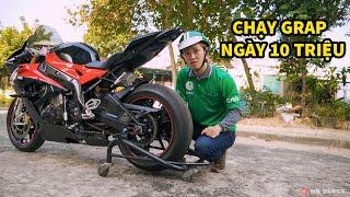 Thanh Niên Chạy Grap Bằng BMWs1000rr Đầu Tiên Tại Việt Nam