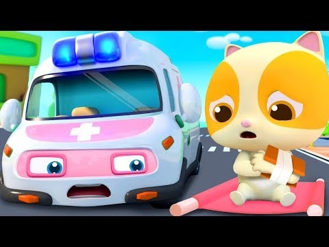 Super Ambulance&39;s Mission  Police Car Fire Truck  Nursery Rhymes  Kids Songs  BabyBus