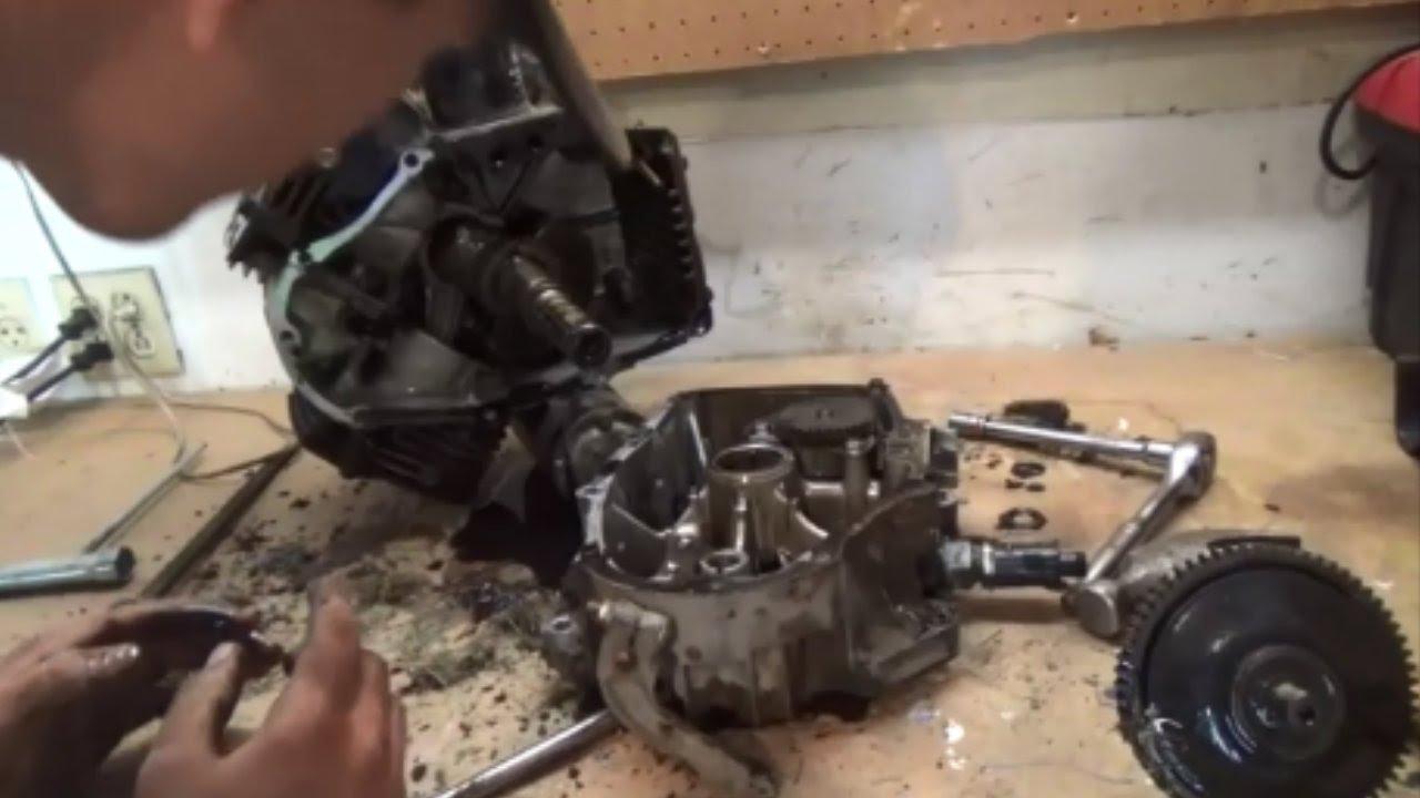 Kawasaki 4 Stroke Engine Breakdown - Piston Ring Removal ...