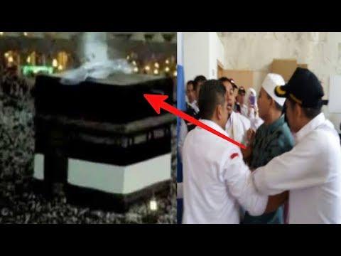 Jemaah Haji Indonesia Tiba² Histeris Melihat Malaikat Jibril di Ka'bah !! Subhanallah..