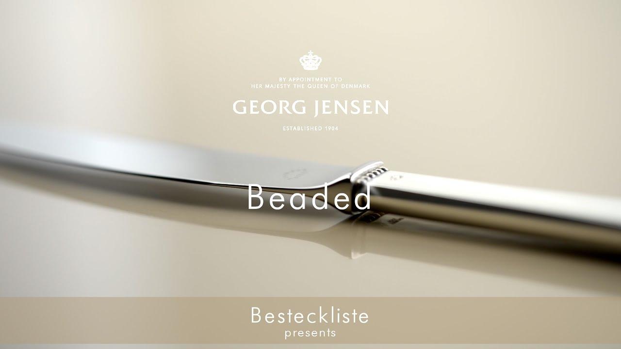 georg jensen besteck beaded refined craftsmanship youtube. Black Bedroom Furniture Sets. Home Design Ideas