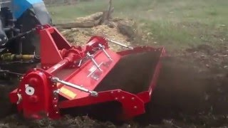 Почвенная фреза Breviglieri с трактором МТЗ-82.