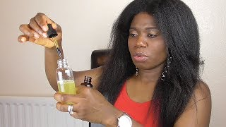 DIY| HOW I MIX MY HAIR GROWTH OIL | RELAXED HAIR, NATURAL AND TEXLAXED HAIR