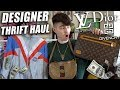 Epic Designer Thrift Haul! Gucci, Dior, Versace, Givenchy, Louis, & Burberry