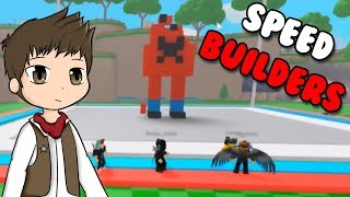 SPEED BUILDERS EN ROBLOX | Roblox Build Battle en español