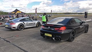 760HP Porsche 991 Turbo S HPT Stage 2 vs 1000HP BMW M6 F13 HPT One X