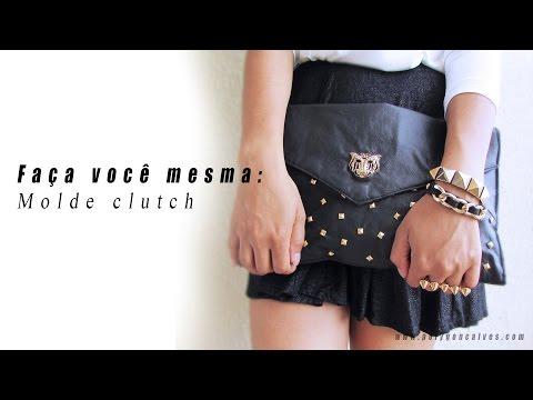 Faça você mesma: Molde Clutch bolsa envelope por Poly Gonçalves