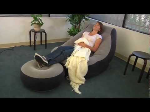 Intex Ultra Lounge Chair And Ottoman Nj Rentals Footrest Combo Youtube