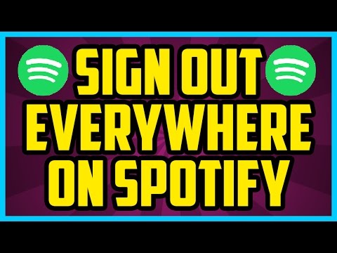 Spotify How To Logout Of ALL Devices 2017 (QUICK & EASY) - Sign Out Everywhere On Spotify PC