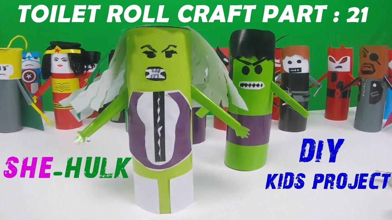 She Hulk Diy Toilet Paper Roll Craft Series 21 Youtube
