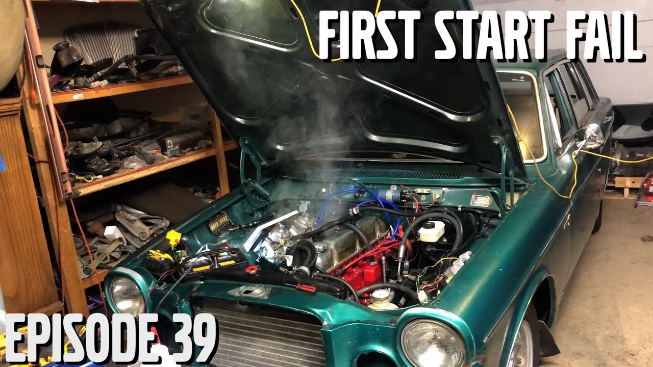 First Start on Rebuilt Engine (Goes Wrong) - Volvo 164 Rescue  Ep39