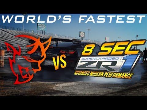I Raced The FASTEST C7 ZR1 In The WORLD 👀   Dodge Demon Vs C7 Corvette ZR1 DRAG RACE   Demonology