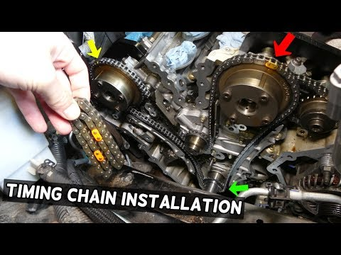 TIMING CHAIN REPLACEMENT INSTALLATION. TIMING MARKS FORD 3.5 3.7 EDGE FLEX TAURUS FUSION LINCOLN MKX