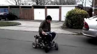 Chainsaw Powered Kettler Kart Hits Bmx Ramp